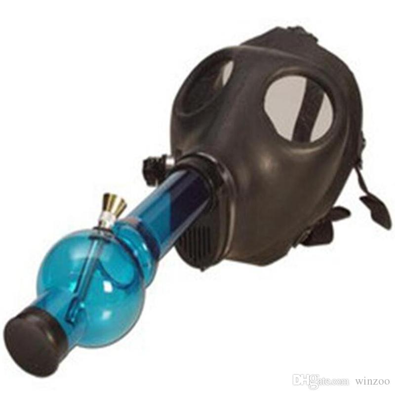 2019 Gas Mask Water Pipes Sealed Acrylic Hookah Pipe Bong