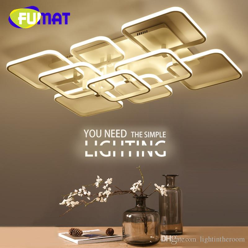 2017 Fumat Square Surface Mounted Modern Led Ceiling Lights For Living Room Light Fixture Indoor Home Decorative Lampshade Acrylic From Lightintheroom