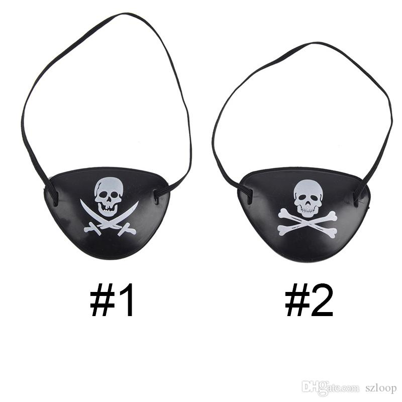 Pirate Eye Patch Skull Crossbone Halloween Party Favor Bag Costume Kids Halloween Toy Craft Gifts Wholesale 0708075