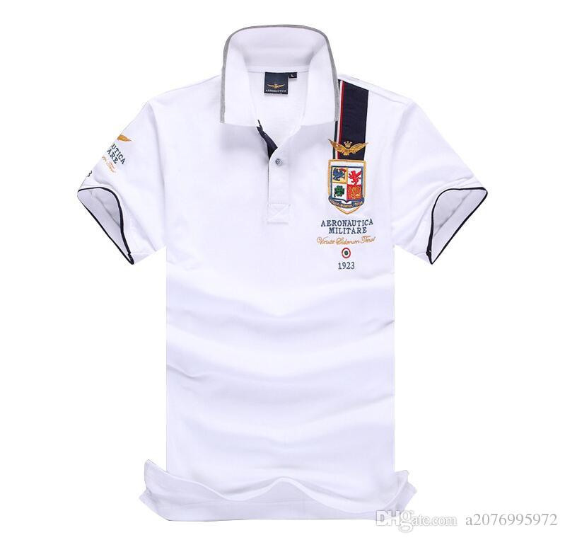 0cd6808d93f 2019 Summer New 2017 Brand Cotton Air Force One Embroidery Men S Aeronautica  Militare Men Polo Diamond Fashion Clothing Polo Shirt Men From A2076995972