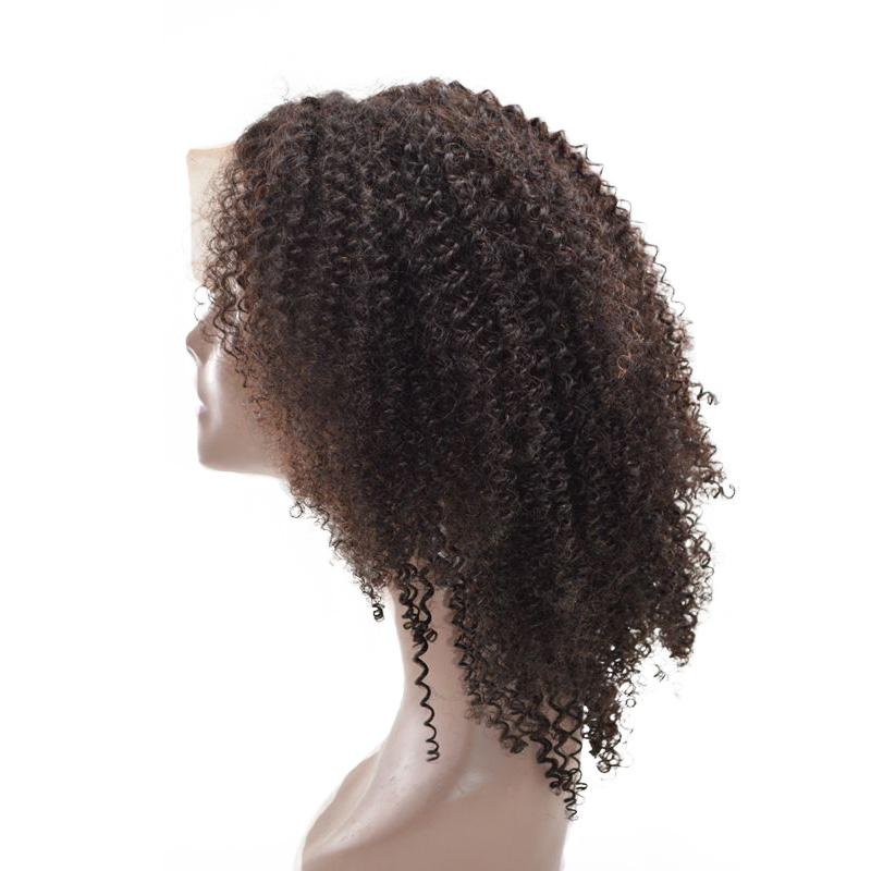 Malaysian Human Hair Lace Front Wigs with Baby Hair Kinky Curly Full Lace Wigs 130% Density FDshine