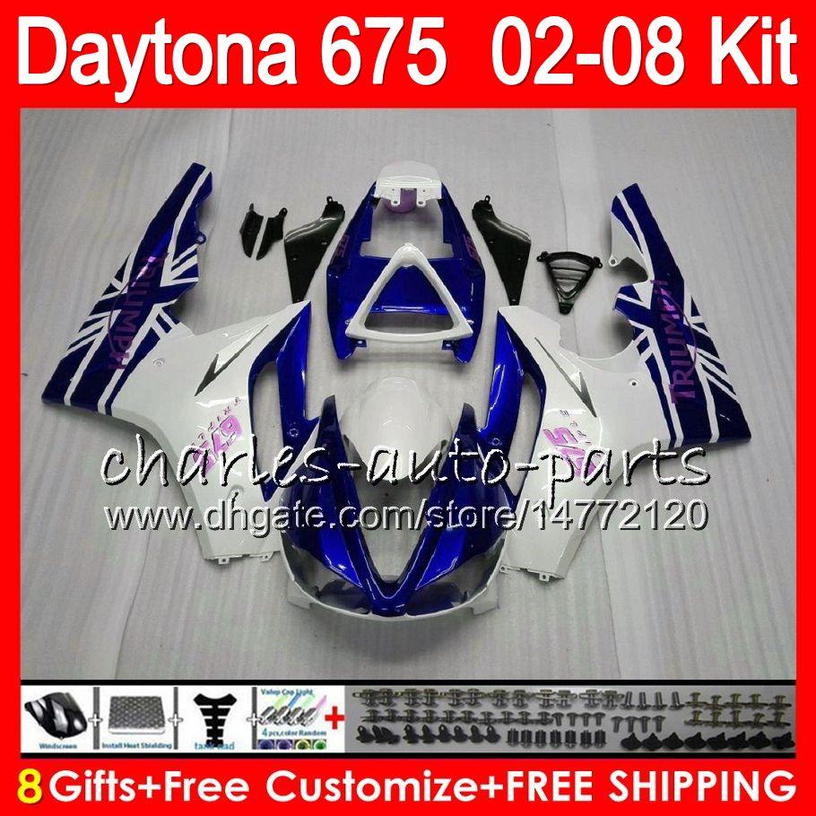 bianco 8 regali i trionfo Daytona 675 02 03 04 05 06 07 08 Daytona675 4HM2 Daytona 675 2002 2003 2004 2005 2006 2007 2008 carenatura
