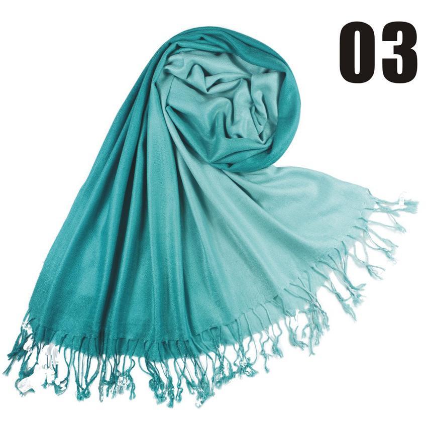 2017 36 Farben Heißer slae Zweifarbige Pashmina Cashmere Solide Schal Tasche Dame Damen Schal Weiche Fransen Solide Schal W003