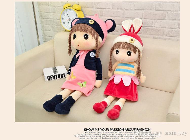2017 Christmas Hot Sale 45cm 55cm 75cm Baby Plush Cloth Ragdoll Stuffed Princess Decorative Doll Toy Girls Best Birthday Gifts Free Shiping