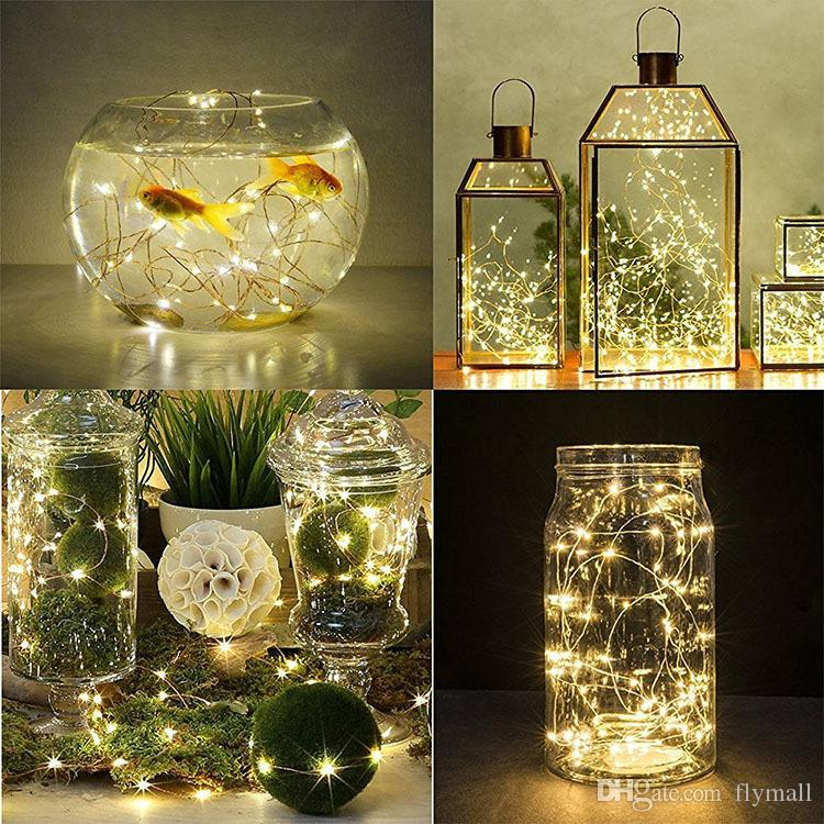 Submersible 2M 20LED Copper Wire Starry String Lights for Party Waterproof Flameless Led Lights Battery Operated Fairy String Lights