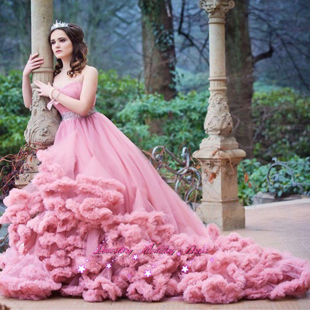 2017 Pink Burgundy Lavender Princess Wedding Dresses Photography ...