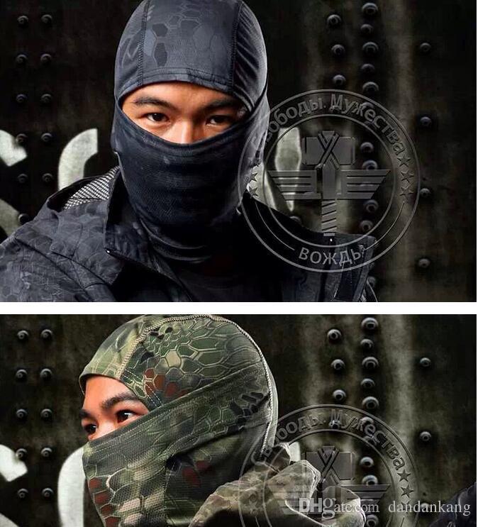 magie tactique hottes de camouflage randonnée à vélo masques Caps en plein air écharpe Bandeaux militaires turban magie remise en forme bandanas course casquette masque équitation