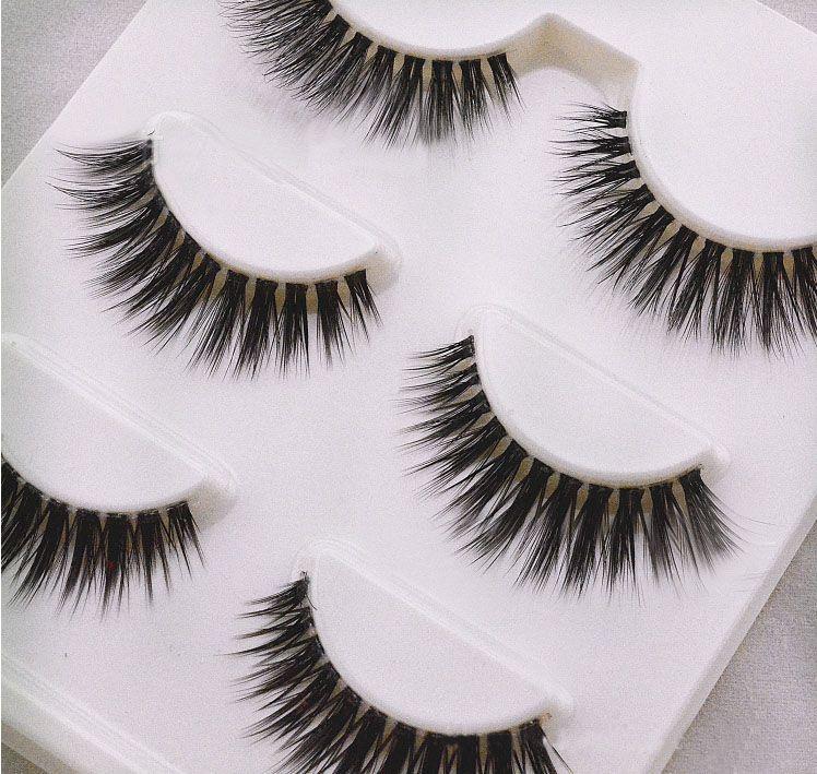 100% handmade false eyelash 3D strip mink lashes thick fake faux eyelashes Makeup beauty Fal