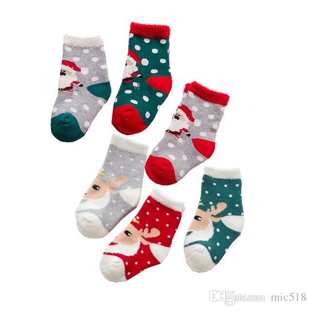 merry christmas newborn baby infant cotton socks baby boy girl clothing baby care stuff childrens anti slip sock comfy wool socks cool printed socks from - Girl Stuff For Christmas