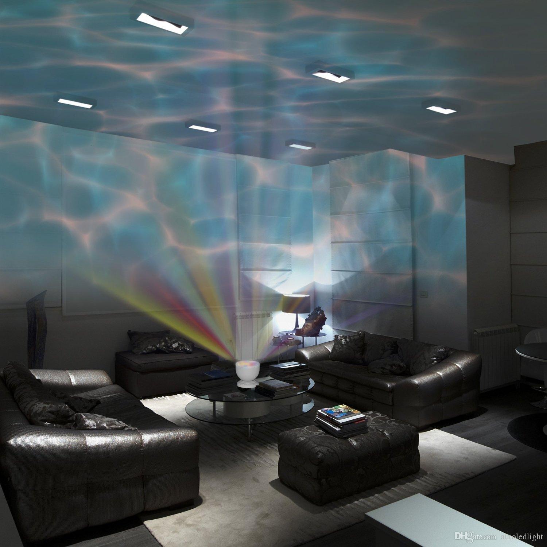 Bunte geführte Nachtlichter-Projektor-Ozean-Daren-Wellen-Aurora-Hauptprojektions-USB-Licht-Lampe mit Sprecher-Neuheits-Beleuchtung