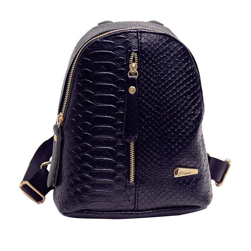 8209848564 Nice Nice Small Women Backpack Black Rucksack Serpentine Mini Pu Leather  Women Snakeskin Purses Bag Girls School Korean Backpacks Jansport Backpacks  School ...