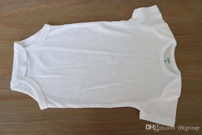 최고의 아기 복장 정장 여름 유아 트라이앵글 Romper Onesies 100 % 면직물 베이비 복장 소년 소녀 순수한 흰색 전체 크기