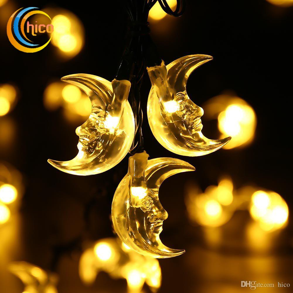 led christmas lights led solar string lights moon light string 6m 30 leds solar power outdoor waterproof for garden string bulb lights string light bulbs