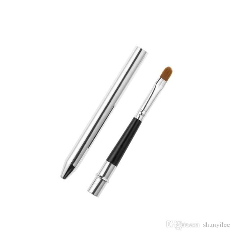 Professional Make Up Tool Portable Retractable Cosmetic Lipstick Gloss Lip Brush With Cap Makeup Cosmetic Tool ZA2037