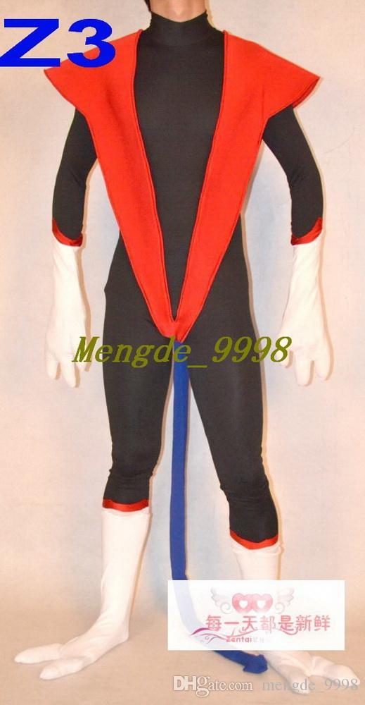 Nuevos trajes superhéroes unisex Fancy 3 Style Superhero Suit Trajes de disfraces con cola Unisex Super Hero Outfit Traje de cosplay de Halloween M237