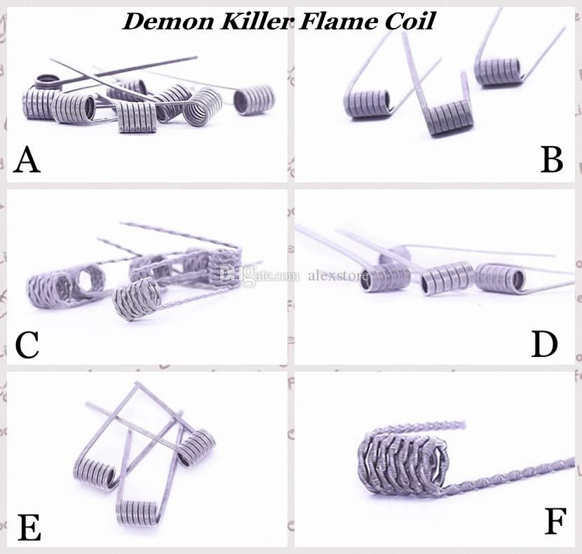100% Authentic Demon Killer Flame Coil Prebuilt Wire 316l Pre Built ...
