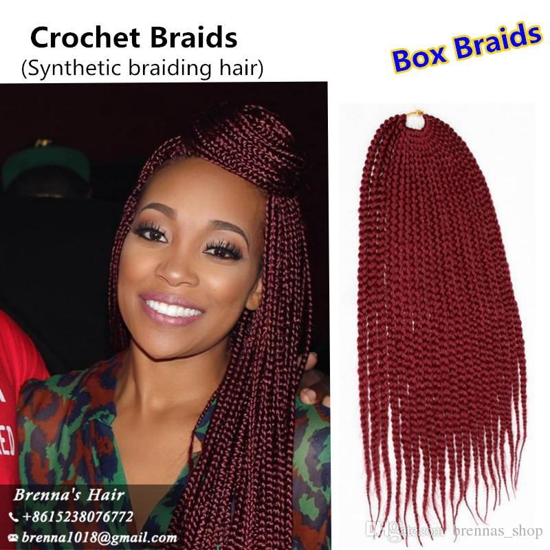America African 3s Crochet Box Braids Hair Extensions 8pack 22 High