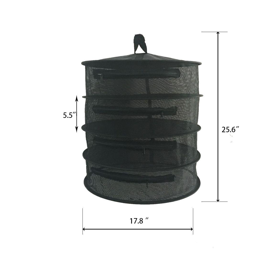 2019 178d X 256h Black 4 Tier Hanging Dry Rack Gorwtent Herb Bud