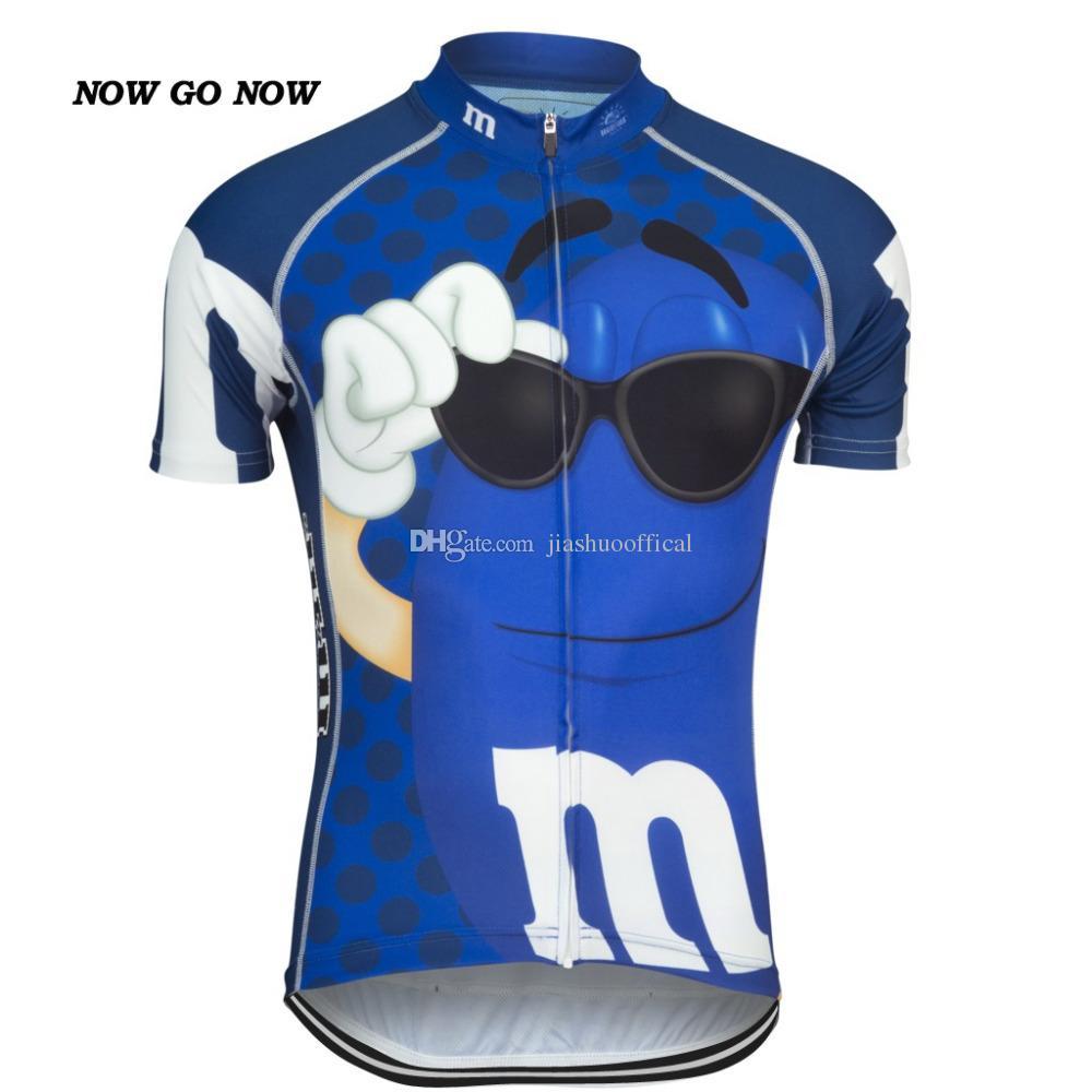 Özelleştirilmiş YENI KOMIK 2017 JIASHUO Karikatür CANDY Bisiklet mtb yol YARıŞ Takım Bisikleti Pro Cycling Jersey / Gömlek Giyim Solunum Hava Seçtikleri