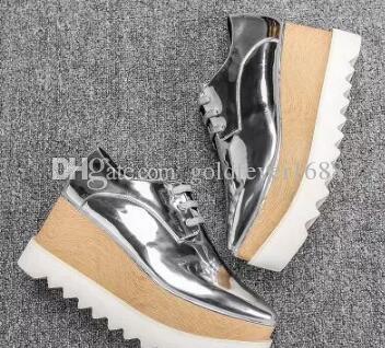 ffa7655462217 New Free Stella Mccartney Odette Women Shoes Black Genuine Leather Upper  Silver Sole Platform Mens Sandals Mens Trainers From Goldfever1688, $85.43|  DHgate.