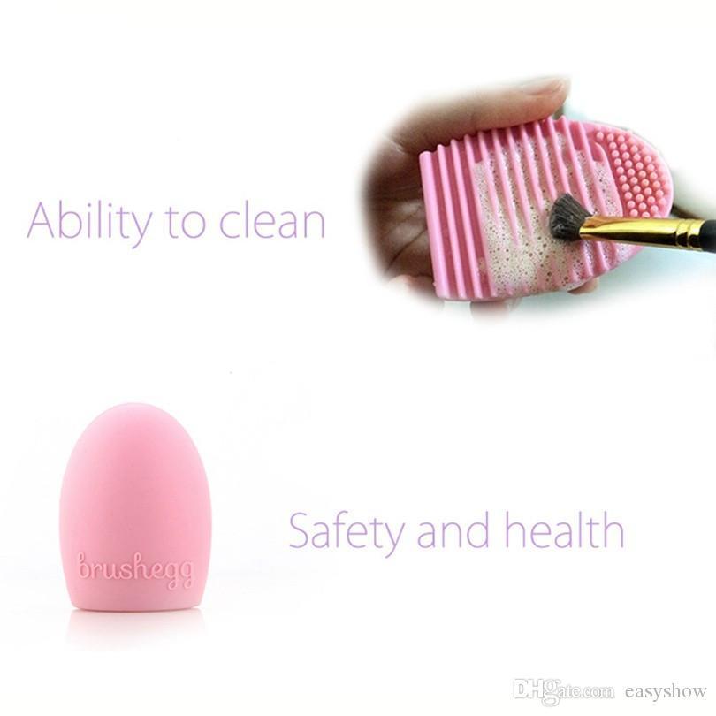 جديد البوب فرشاة البيض تنظيف المكياج غسل فرشاة سيليكون قفاز الغسيل أدوات التجميل مسحوق الأساس نظيفة