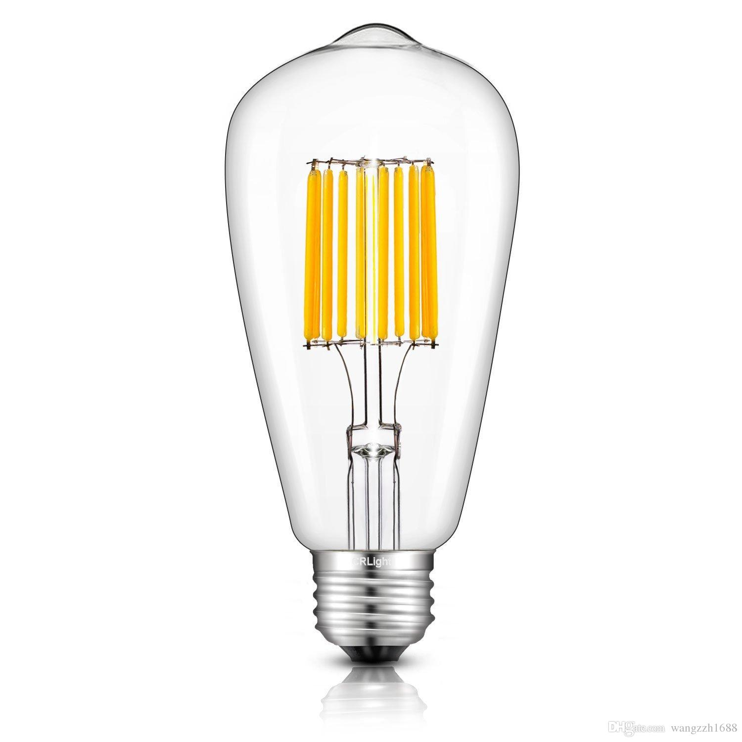 Exceptional Meegan 8w Led Tungsten Light Bulb, 800lm, 80w Incandescent Equivalent,  220v, E27 E26 Base, 4000k Nature White, Clear Glass Cover Led Candle Bulb  Led T8 ... Pictures