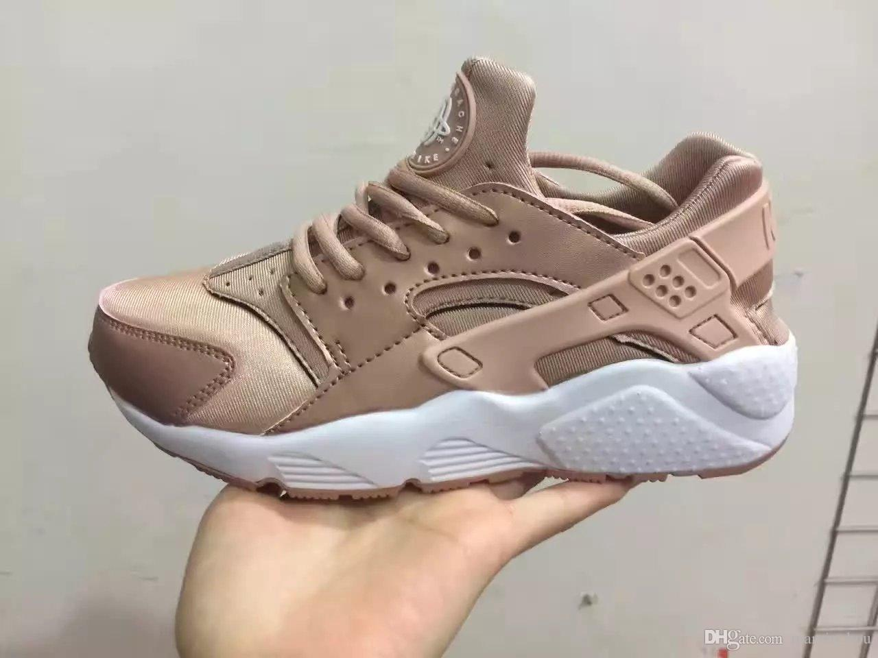 75dcaf224472 New Arrival Rose Gold Grey White Air Huarache ID Shoes Black Red Brown  Huaraches Men And Women Sneakers Tech Huraches Casual Shoes Clogs For Women  Shoe ...