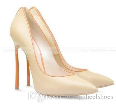 Artı boyutu 43 kadın sıcak pompaları sivri burun moda tasarımcısı yüksek topuklu sivri burun stilettos üzerinde kayma bıçak topuklu daha renk teklif kadın ayakkab ...