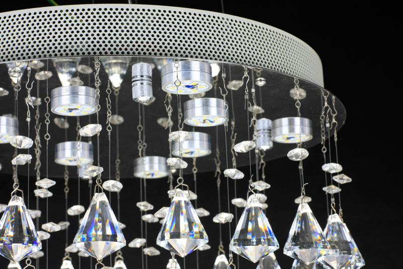 crystal chandelier Diamond crystal 15 inch Dining-room lamp Drawing room lights Stainless steel 10 inches high