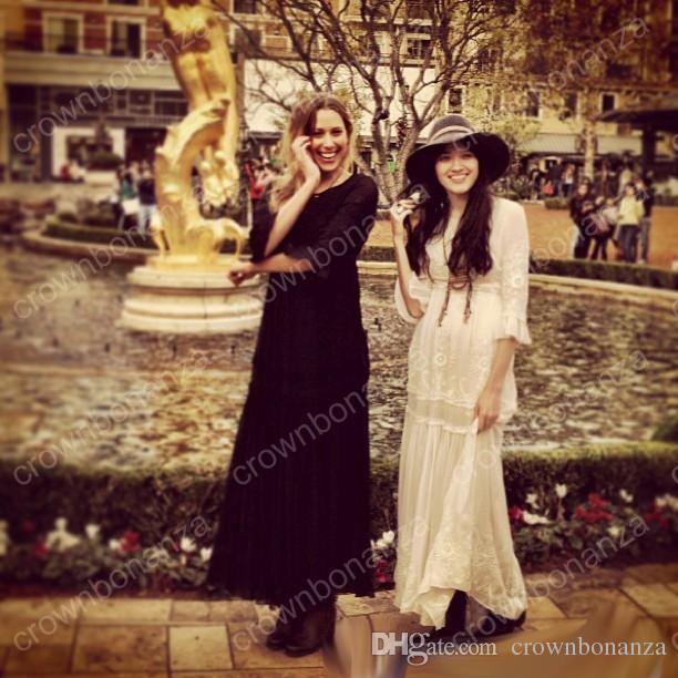 Spring Summer Women Vintage Ethnic Embroidery Hippie Boho People Cotton Linen Tunic Short Loose Long Dresses robe longue