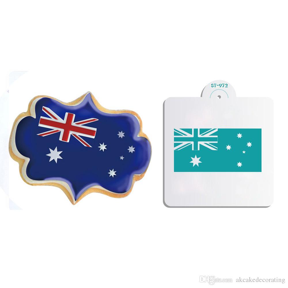 Großhandel Australien Flagge Dekorieren Schablone Für Kekse Und ...