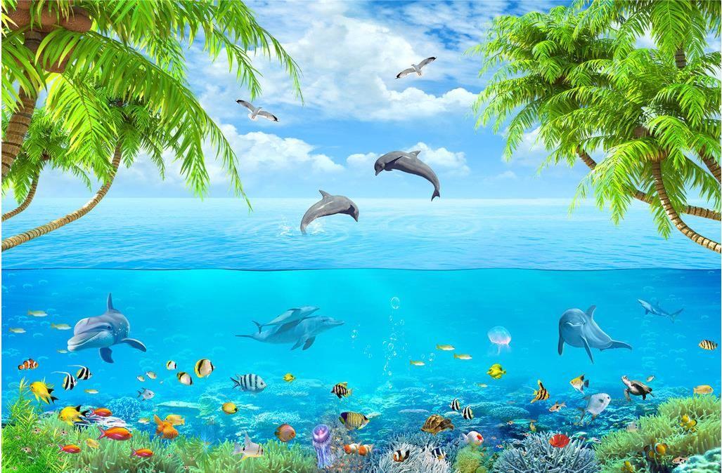 Liebe das Meer kreative 3D Hintergrundbild Wandbild 3d Tapeten 3d Tapeten für TV-Hintergrund