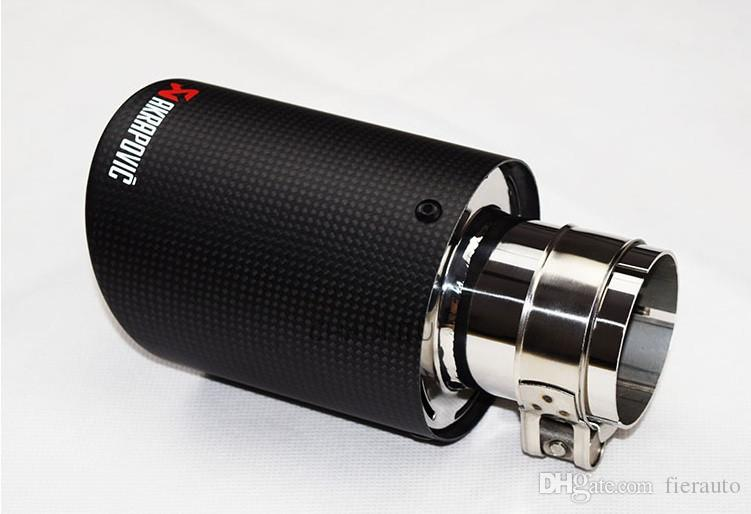 TOP quality Car Carbon Fiber Exhaust End Tips for BMW 63mm in 89mm'' out,
