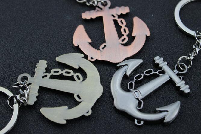 Creative innovative items Popular lovers gift keychain star heart romantic boat anchor trinket gadget key chain ring