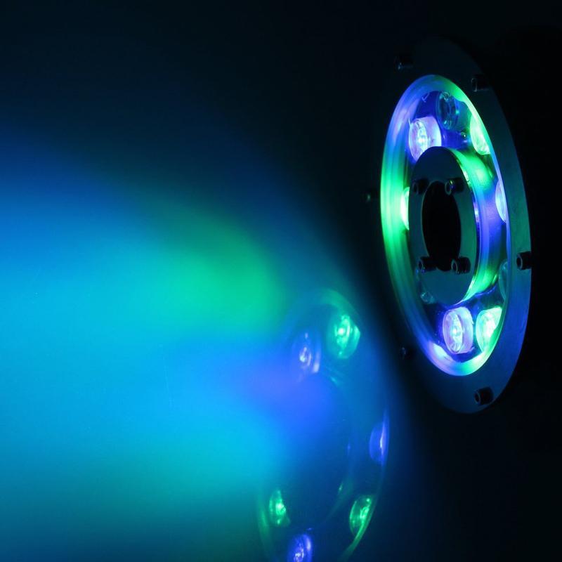 AC / DC24V CONDUZIU a Fonte de Luz 9 W IP68 À Prova D 'Água Luz Subterrânea Piscina Luz Piscina RGB LED Pond Luzes de Iluminação Submersível