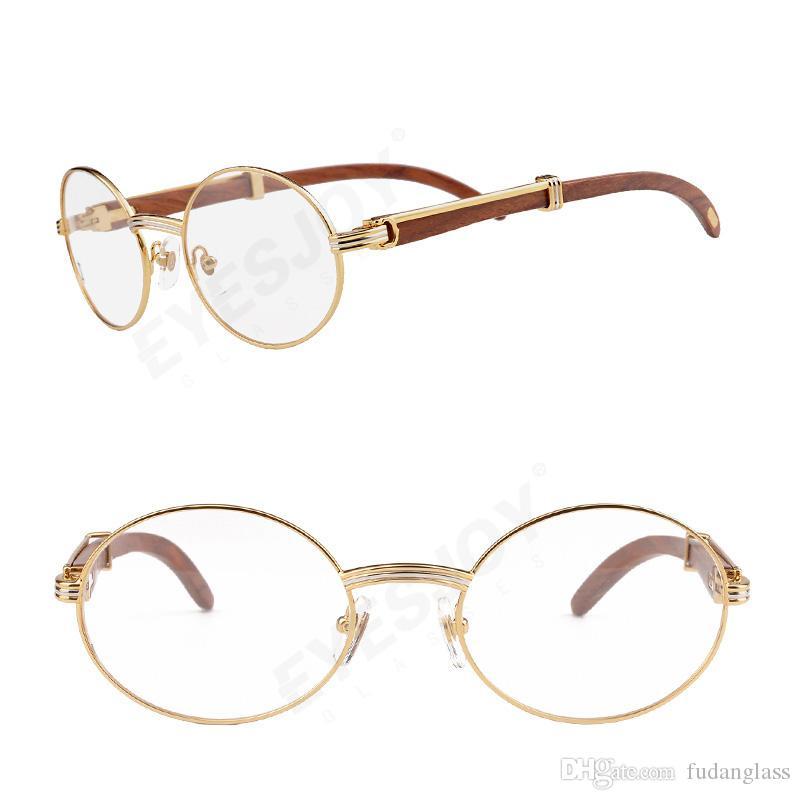 Hot 18k Gold Eyeglasses Frame Luxury Classic Brand Men Glasses New ...