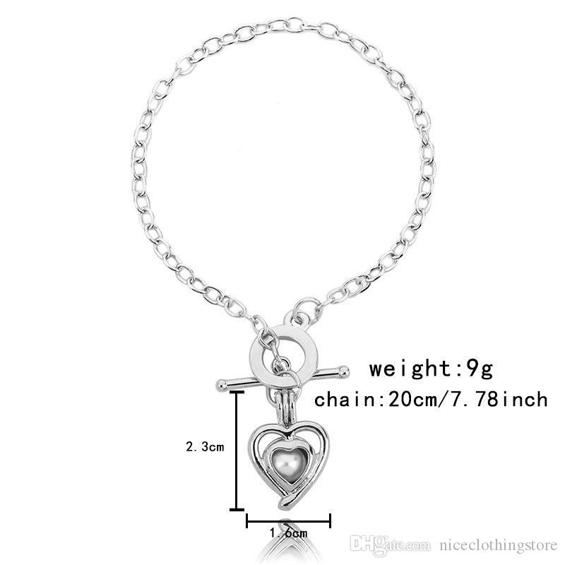 2017 Women'S Pearl Cage Charm Bracelets With Oyster Pearl Beads Fashion Butterfly Elephant Dolphins Locket Bracelet Jewelry