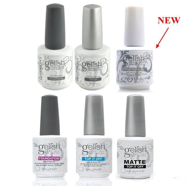 Harmony Gelish Nail Polish STRUCTURE GEL Soak Off Clear Nail Gel TOP it off and Foundation Led UV Gel Polish frence nails Top coat Base coat