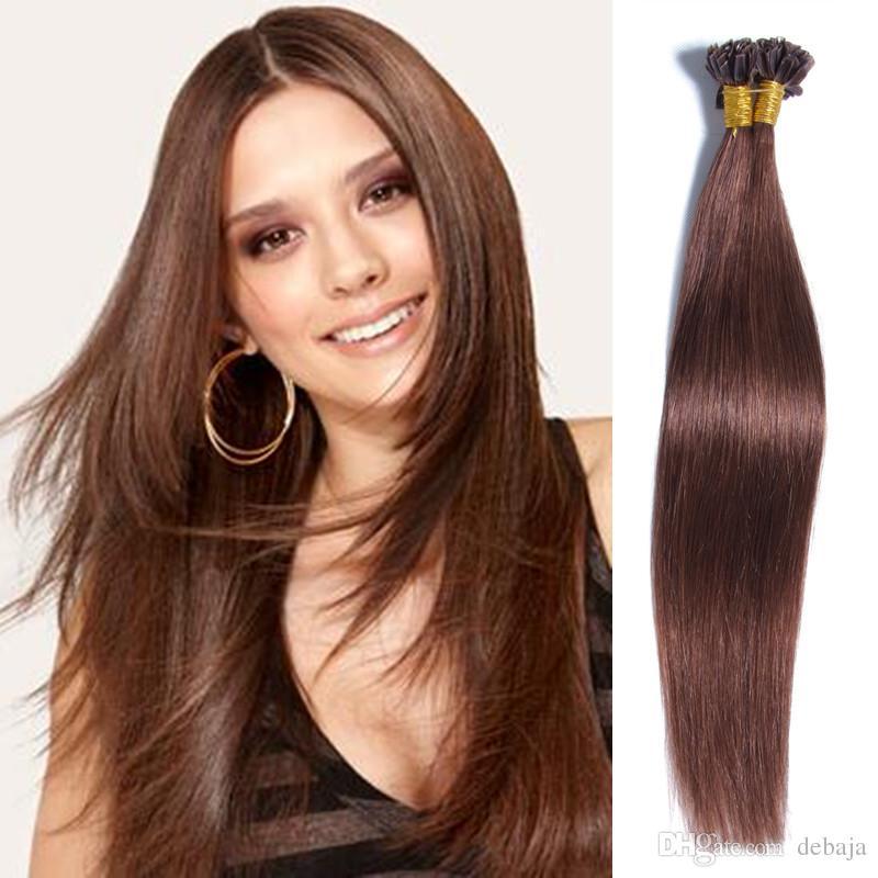 Fashion Brazilian Human Virgin Hair U Tip Multi Color Hair