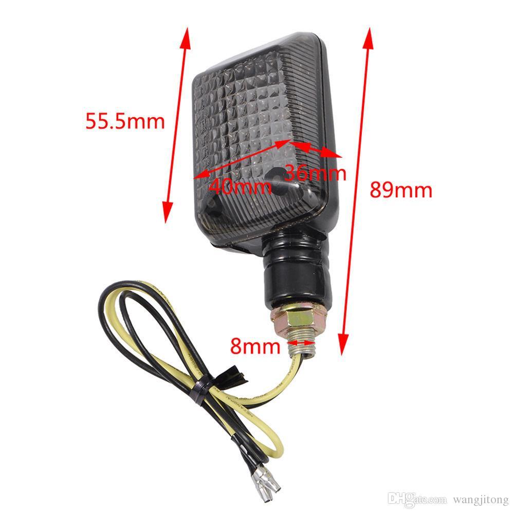 Indicatori di direzione del motociclo universale lampeggiante LED Indicatori di ambra luci Fumo Indicatore di direzione faro anteriore