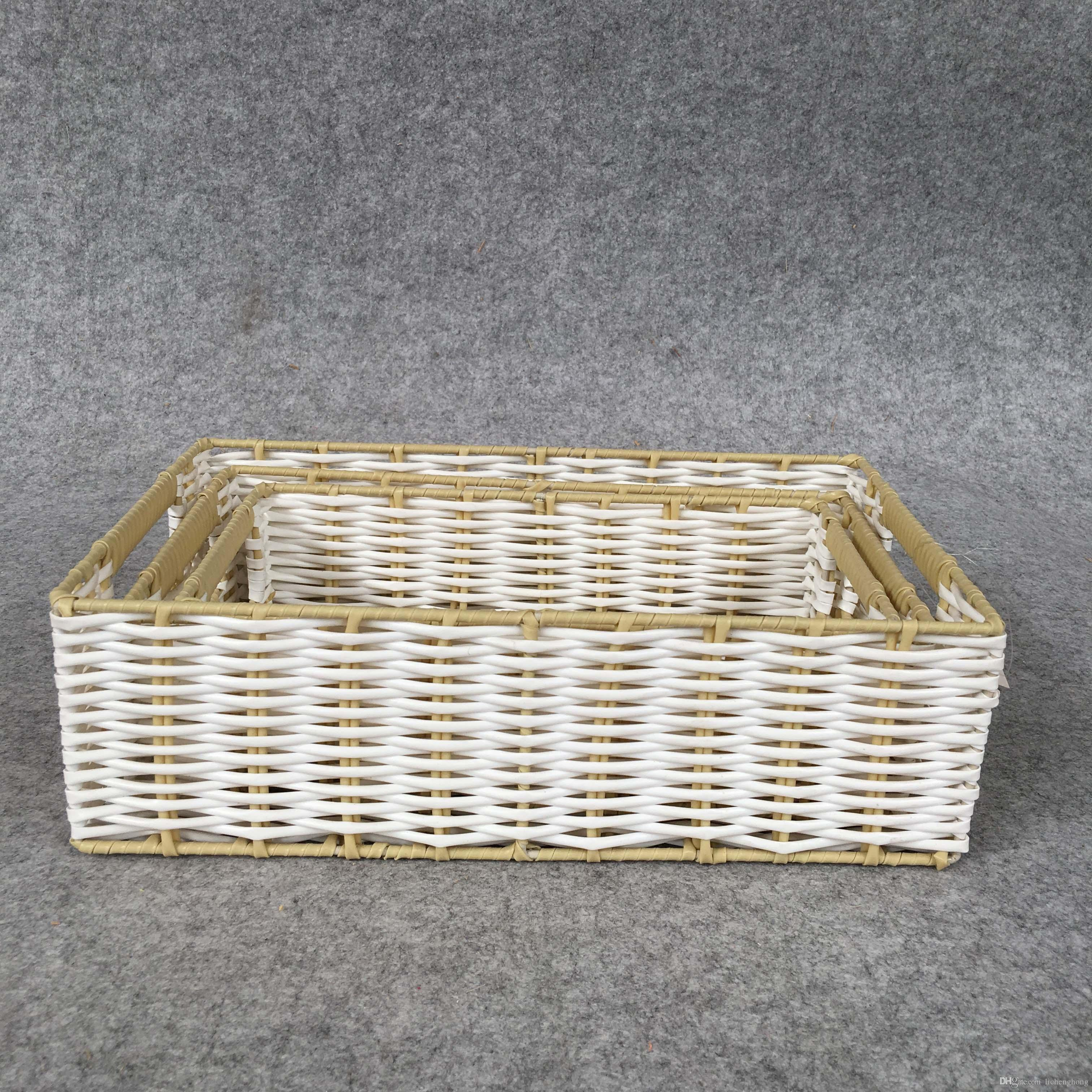Wicker baskets, very versatile and great for storage ...
