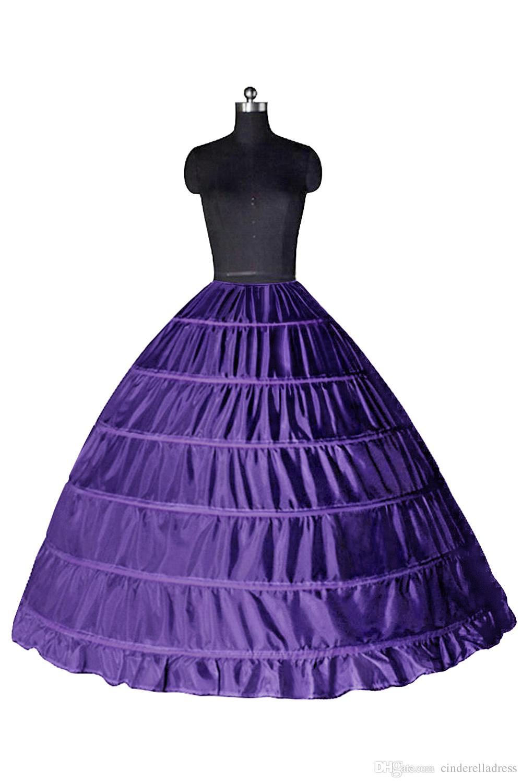 سوبر رخيصة ثوب الكرة 6 الأطواق ثوب نسائي الزفاف زلة الكرينولين الزفاف السكري يضع زلة 6 طارة تنورة ل اللباس quinceanera cpa206