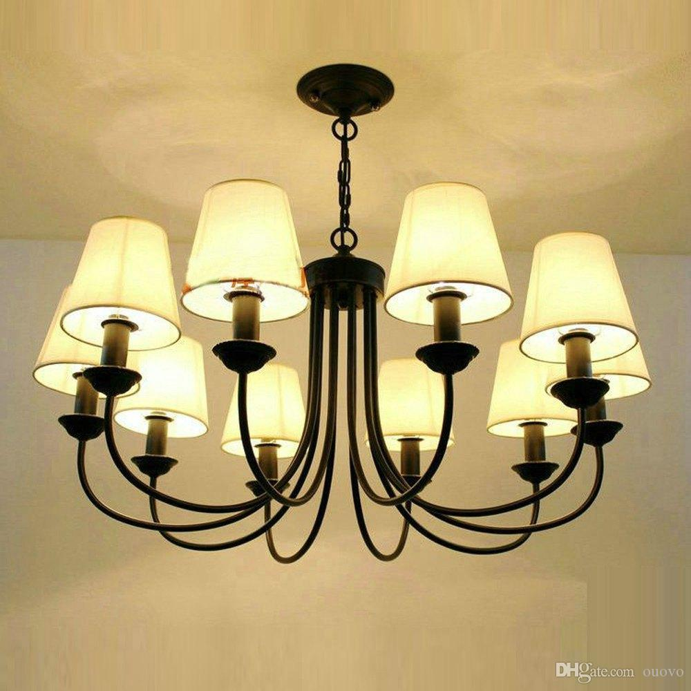 Mediterranean Black Painted Iron Living Room Chandeliers Romantic Dining  Room Pendant Lamp Hallway Corridor Chain Hanging Light Ceiling Lighting  Fixtures ...
