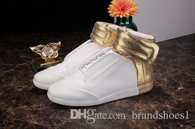 05fe47ccf99 Acheter Utany Kanye West Sneakers Haut Haut Luxe En Cuir Véritable Mode  Pour Homme Chaussure Cheval Cheveux De  70.36 Du Brandshoes1
