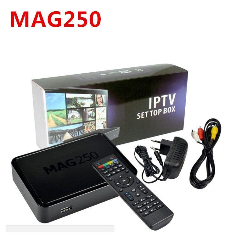 MAGTop Box con WIFI Antenna USB Mag 250 256MB Processore di sistema Linux STi7105 RAM 256Mb DLAN IPTV Box Mag250 Media Player