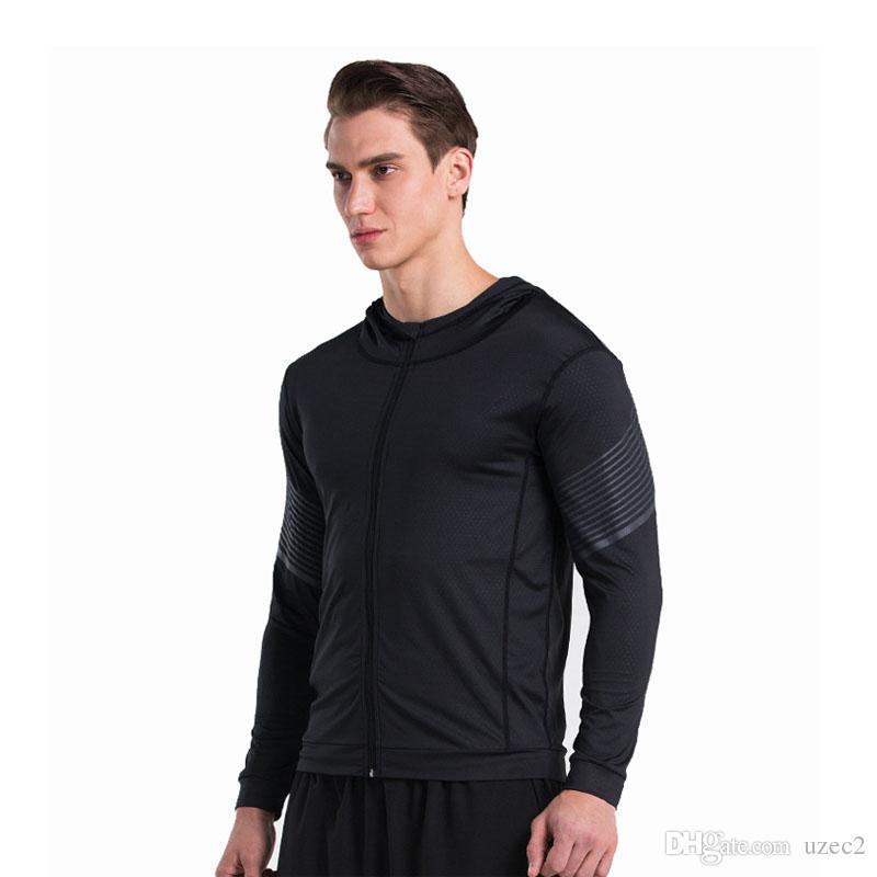 A nova flâmula fitness fitness casaco apertado ginásio jaqueta de treinamento em execução montanhismo com capuz