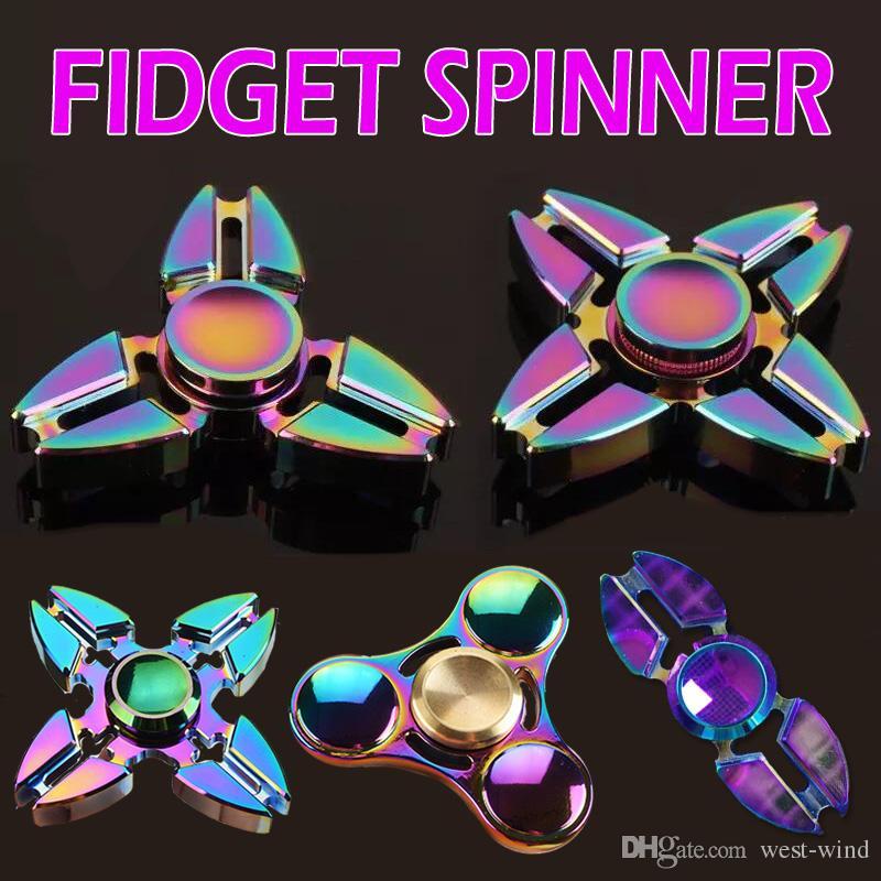 Kimter Tri Spinner Edc Fid Spinner Rainbow Aluminum Alloy