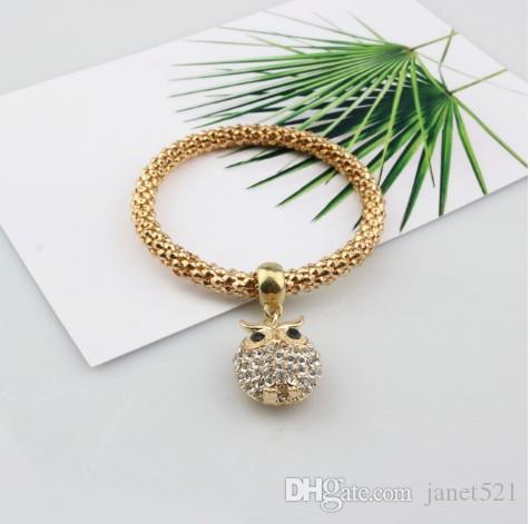 Altın / Gümüş / Rose Gold Ton Mısır Zincir Kadınlar için Stretch Bilezikler