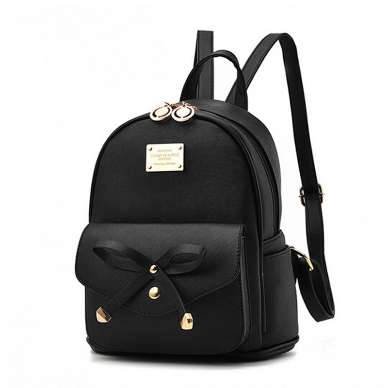 Fashion Women Backpack For Girls New Backpacks Black Backpacks Female Small Girls  Bags Ladies Leather Backpacks Moch Rucksack Jansport Backpacks From ... 399c70dd8c8a0