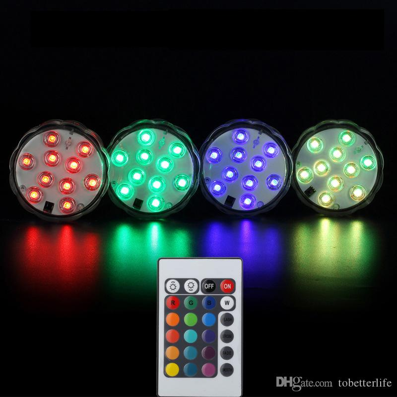 2019 Battery Operated Underwater Led Lights Ip68 Pool Fish